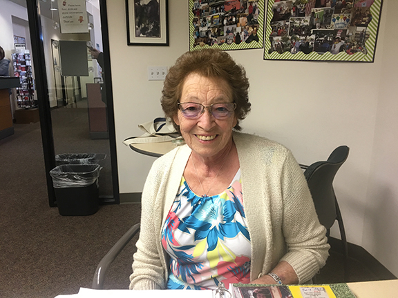 """Valle Vista Library and veteran volunteer Dianne Verdugo introduces """"Moments in Time"""""""