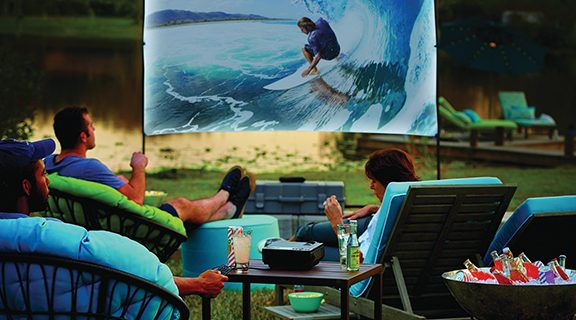 <strong>Now playing: summer movie nights in your own backyard</strong>