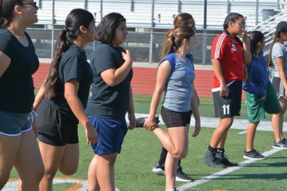 <strong>SJHS warms up its soccer players</strong>