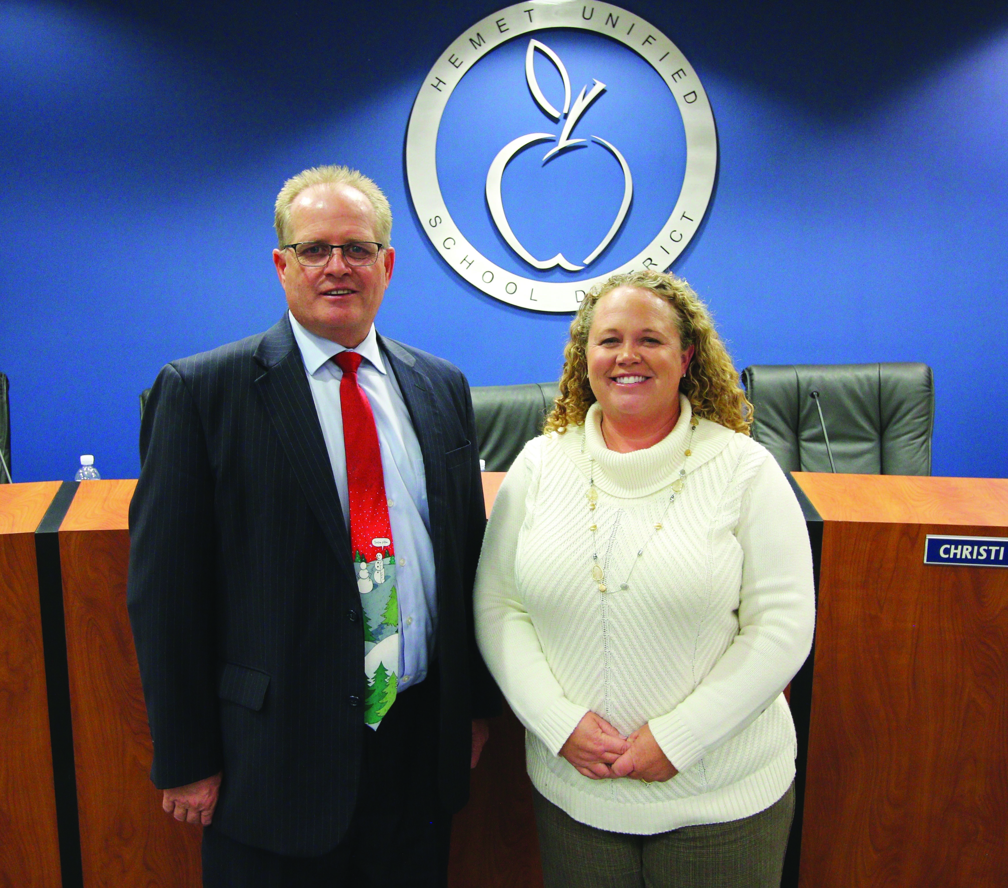 HUSD welcomes new Board President and VP