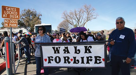 <strong>Pro-life demonstrators rally at Gibbel Park</strong>