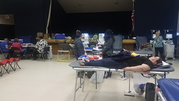 Blood drive every Monday at Simpson Center