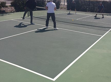 <strong>New pickleballcourts open at Diamond Valley</strong>