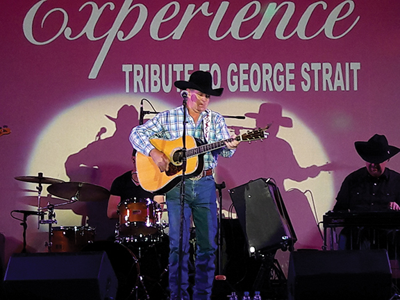 John Eric as George Strait thrills country western fans at HHT