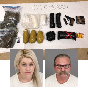 Methamphetamine and Firearm Seized During Search Warrant
